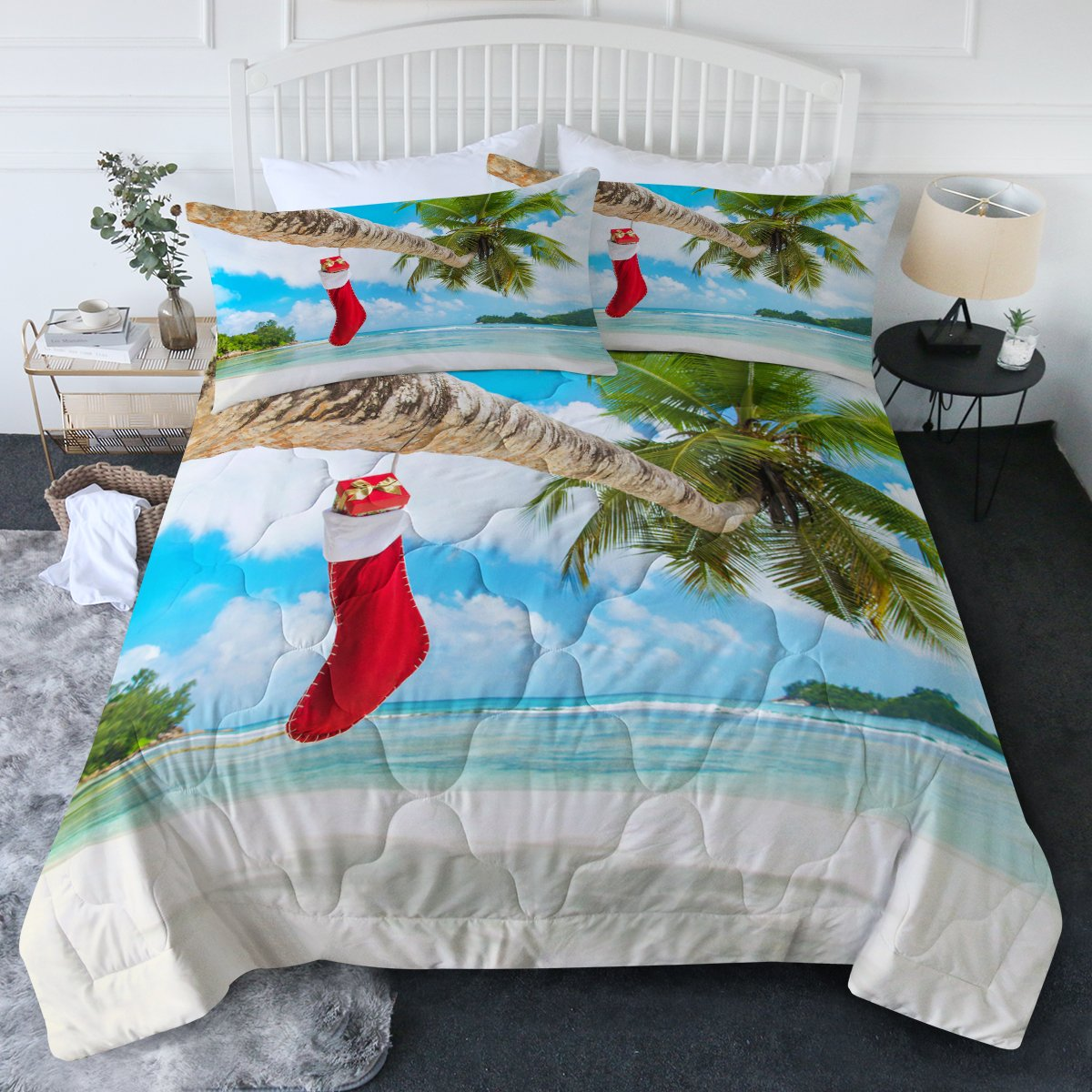 Christmas and Holidays 3-Piece Comforter Sets-Coastal Passion
