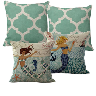 Clearwater Set-Pillow Cover-Standard: Linen-Polyester-Coastal Passion