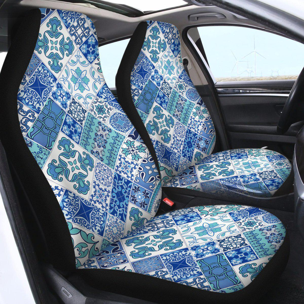 Coastal Mosaic Car Seat Cover