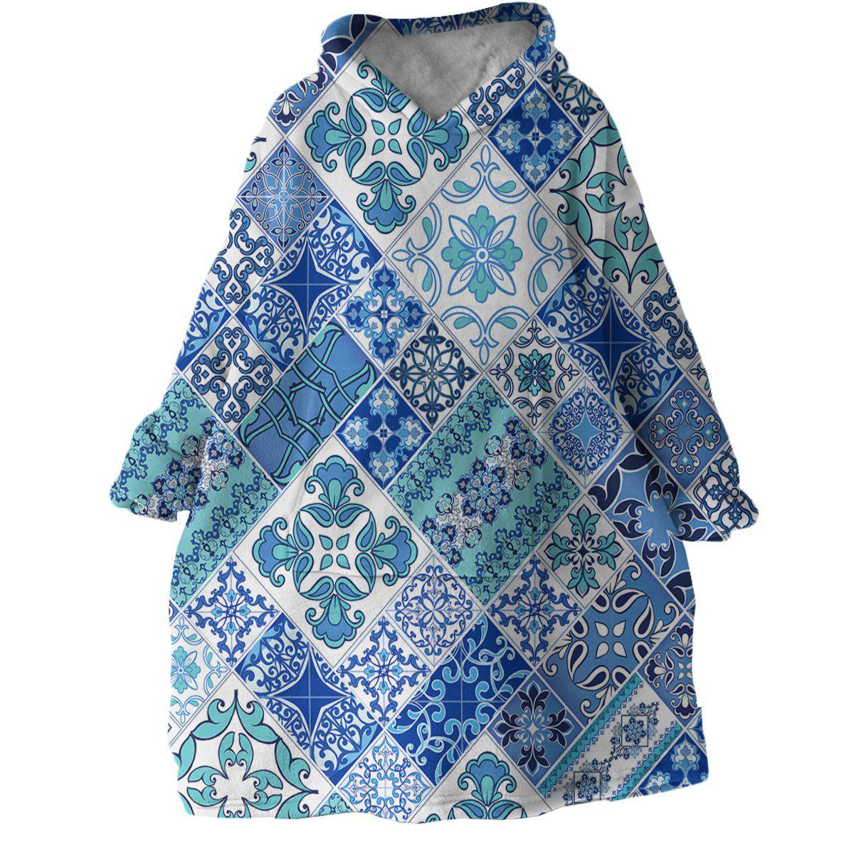 Coastal Mosaic Wearable Blanket Hoodie