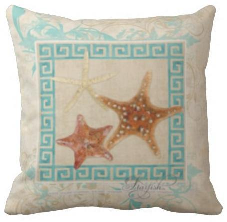 Coastal Starfish Pillow Cover