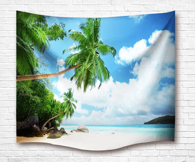 "Coconut Beach Wall Tapestry-60"" x 40""-Indoor: Light Polyester-Coastal Passion"