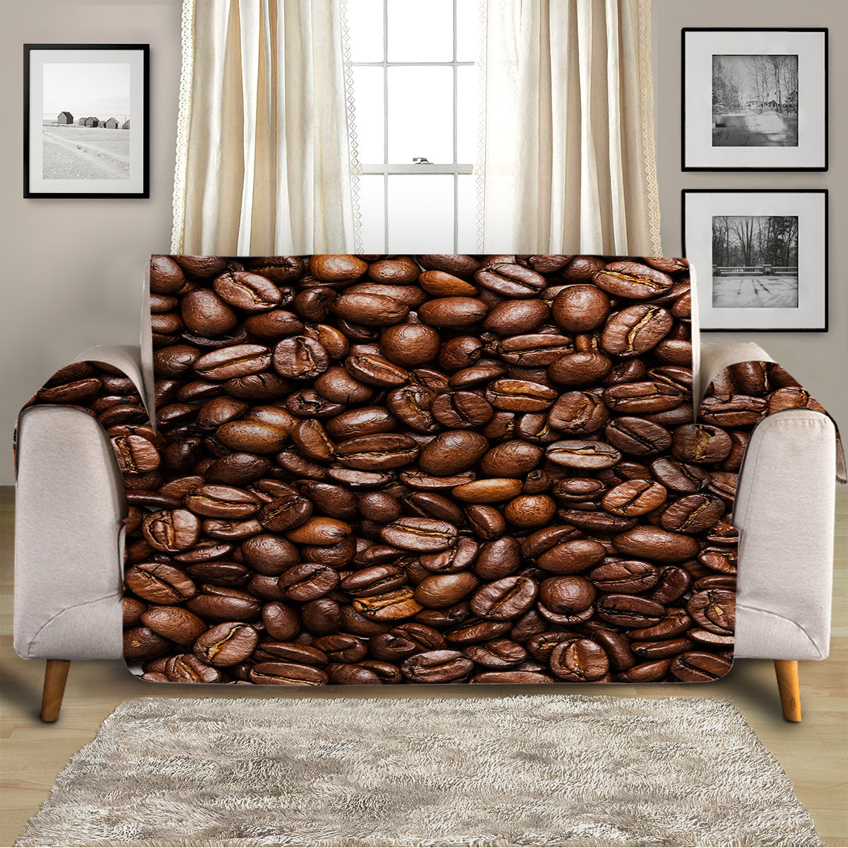 Coffee Passion Sofa Cover