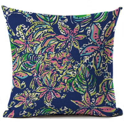 "Colorful Dreams Collection-Pillow Cover-Design 6-17"" x 17""-Linen Blend-Coastal Passion"