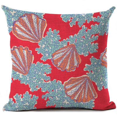 "Colorful Dreams Collection-Pillow Cover-Design 7-17"" x 17""-Linen Blend-Coastal Passion"