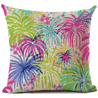"Colorful Dreams Collection-Pillow Cover-Design 9-17"" x 17""-Linen Blend-Coastal Passion"