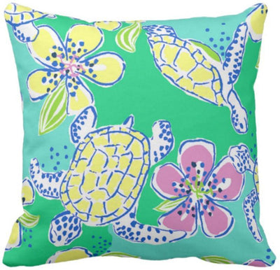 "Colorful Dreams Collection-Pillow Cover-Design 1-17"" x 17""-Linen Blend-Coastal Passion"