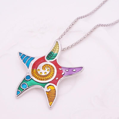 Colorful Starfish Jewelry Set--Coastal Passion