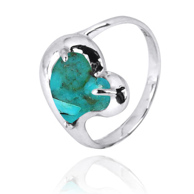 Ring-Compressed Turquoise Cocktail Ring-Coastal Passion