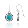 Earrings-Compressed Turquoise Drop Earrings-Coastal Passion