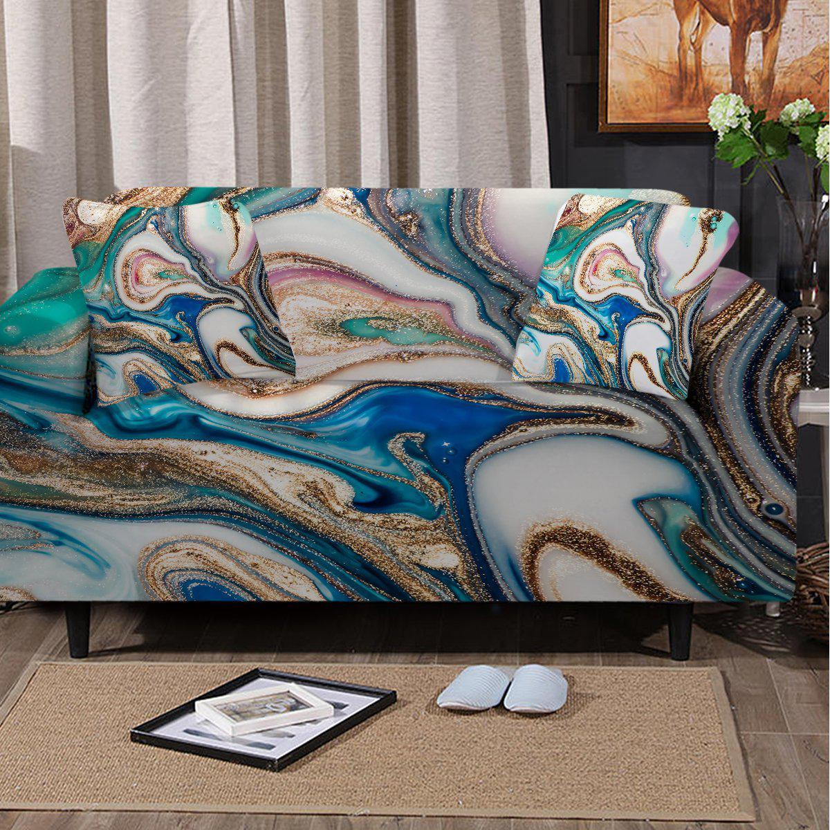 Sofa Slipcover-Copacabana Couch Cover-Coastal Passion