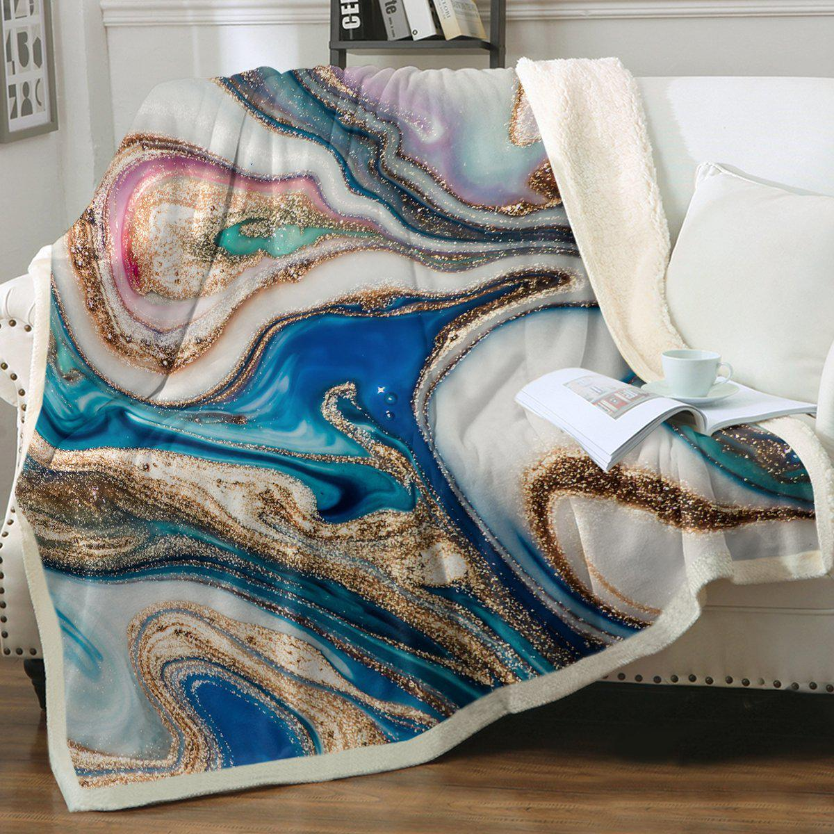 Copacabana Soft Sherpa Blanket-Coastal Passion