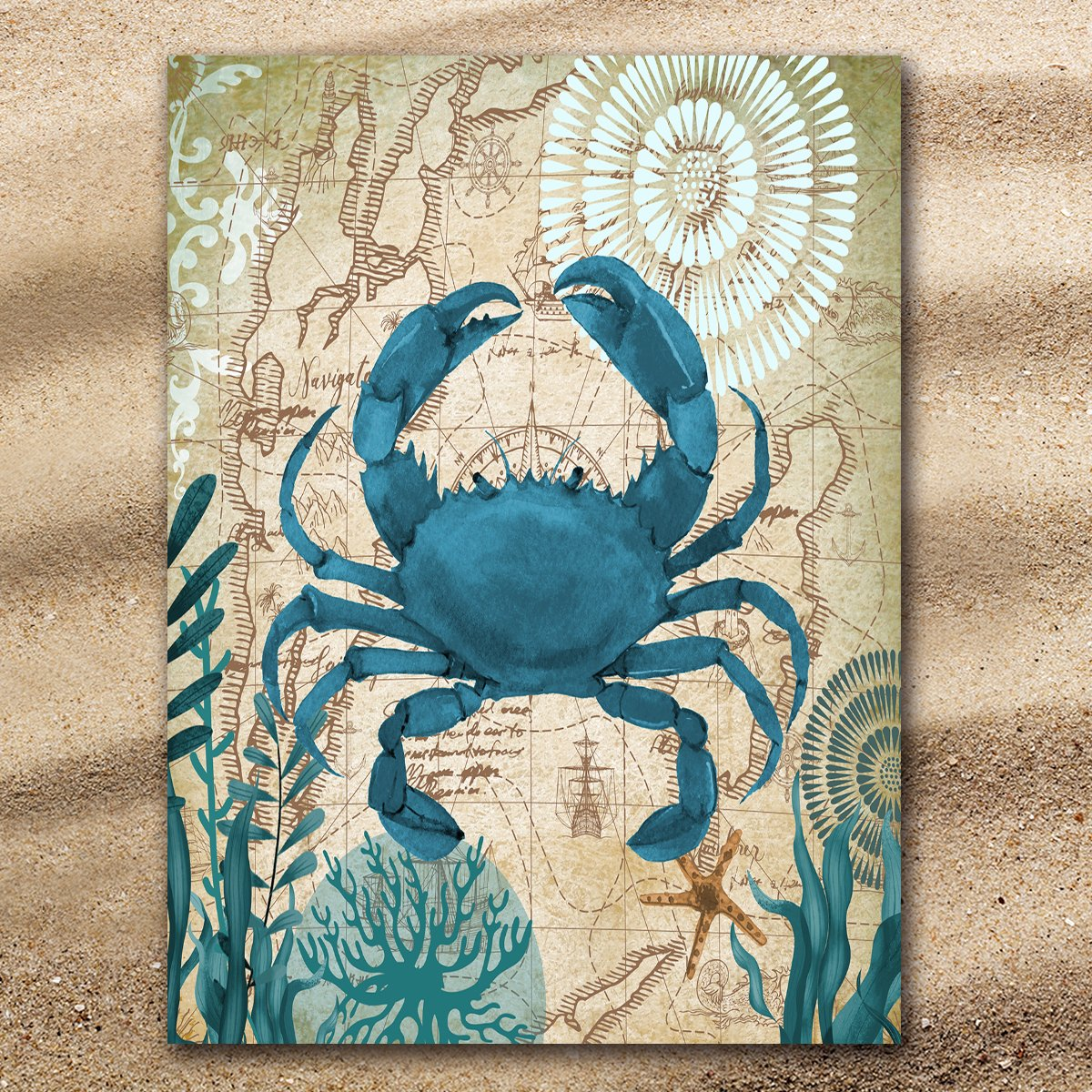 Crab Love Extra Large Towel-Coastal Passion