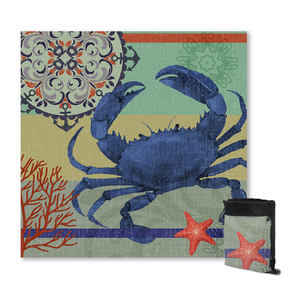 Crab Passion Sand Free Towel