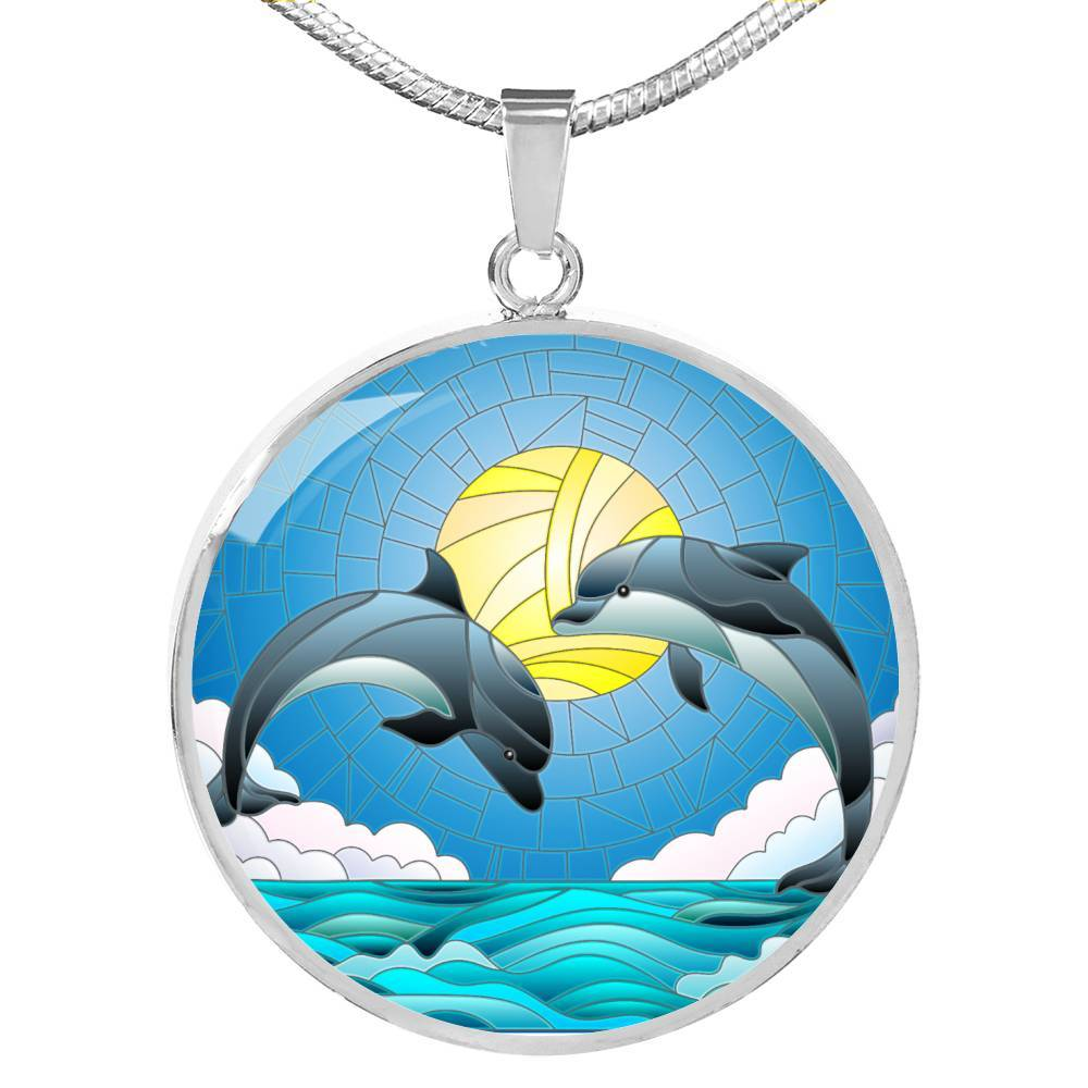 Dolphin Dancing Necklace-Coastal Passion