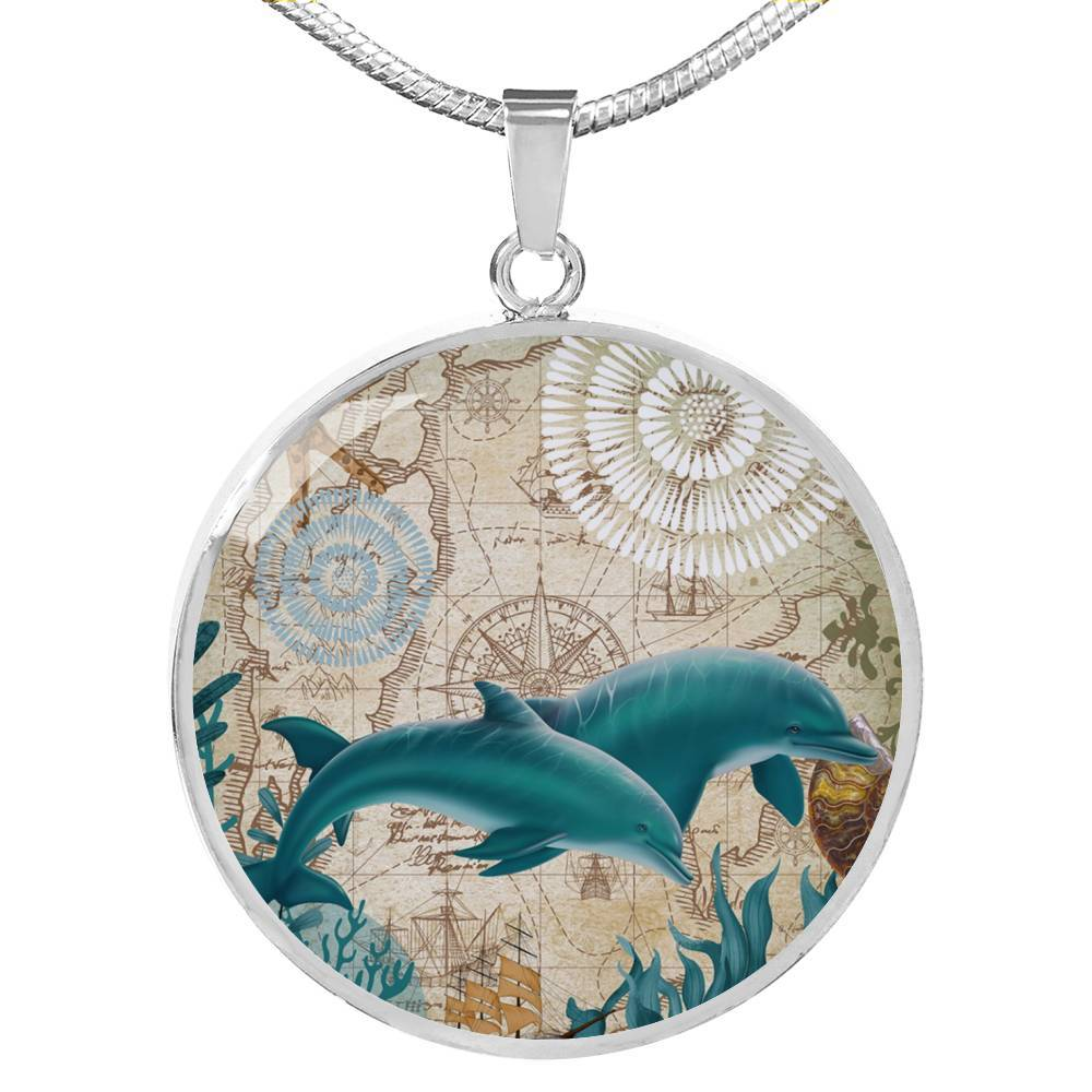Dolphin Love Necklace-Coastal Passion