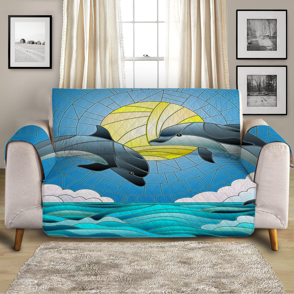 Dolphin Dancing Sofa Cover