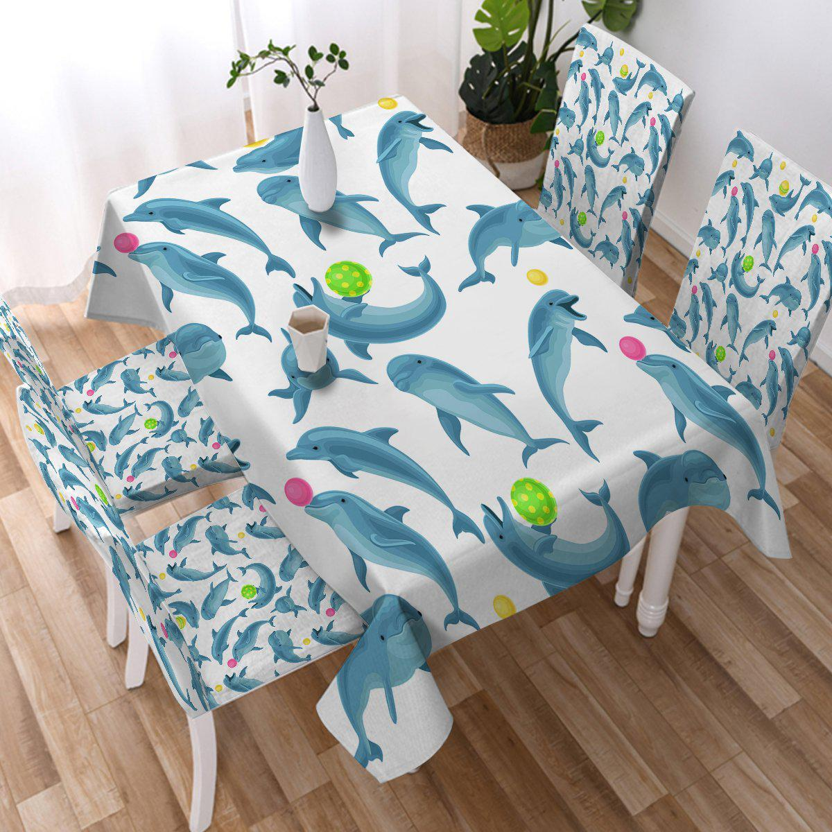 Dolphins Soul Fins Tablecloth-Coastal Passion