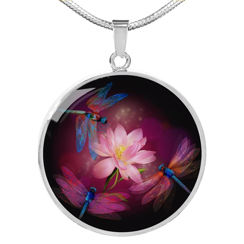 Dragonflies and Lotus Necklace-Coastal Passion