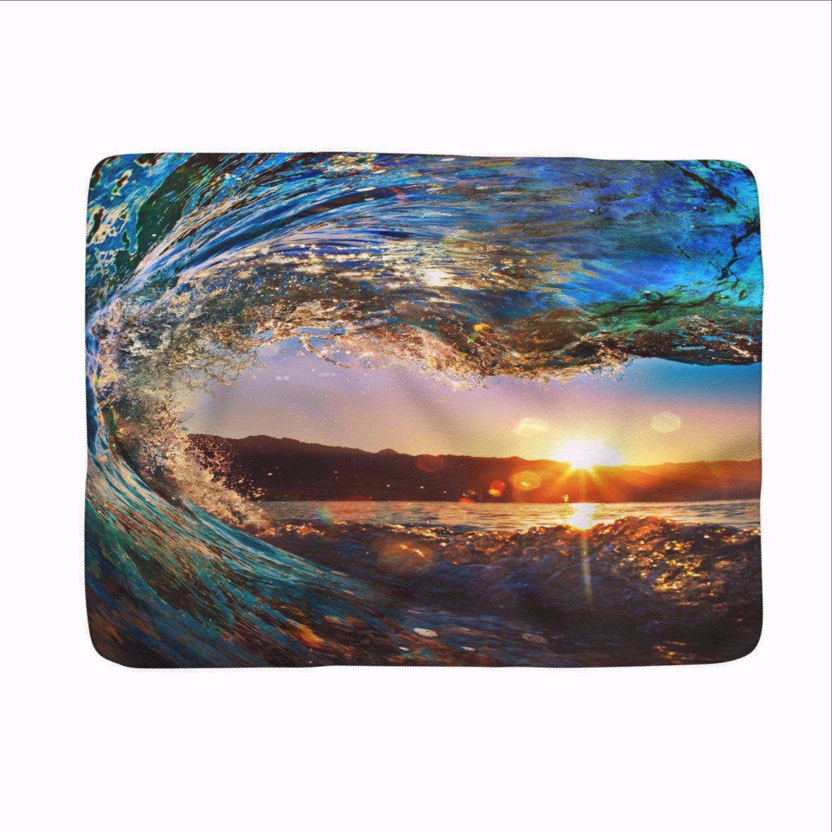 "Eye of the Ocean Cozy Fleece Blanket -made in usa-Blanket-50"" x 60""-Coastal Passion"