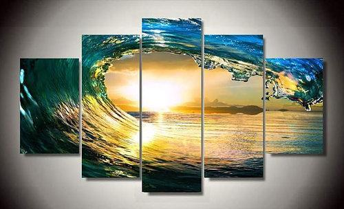 Eye Of The Ocean Gallery Wrap Canvas Print--Coastal Passion
