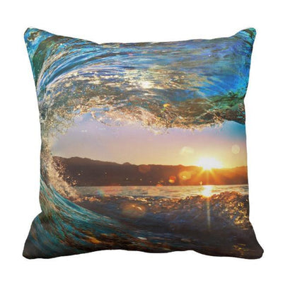 "Eye Of The Ocean Pillow Cover-Pillow Cover-17"" X 17""-STANDARD-Coastal Passion"