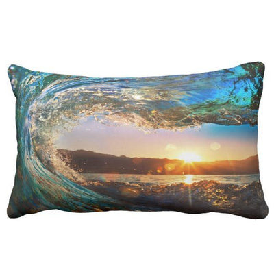 "Eye Of The Ocean Pillow Cover-Pillow Cover-12"" x 20""-STANDARD-Coastal Passion"
