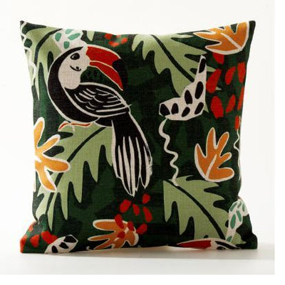 Flamenco Beach Collection-Pillow Cover-Design 9-Standard: Linen Blend-Coastal Passion