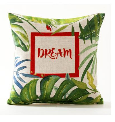 Flamenco Beach Collection-Pillow Cover-Design 2-Standard: Linen Blend-Coastal Passion