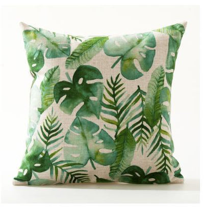 Flamenco Beach Collection-Pillow Cover-Design 8-Standard: Linen Blend-Coastal Passion
