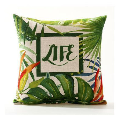 Flamenco Beach Collection-Pillow Cover-Design 1-Standard: Linen Blend-Coastal Passion