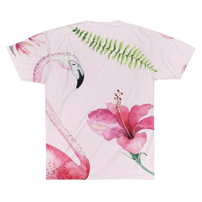 Flamingo Beach Tee-All Over Prints-Coastal Passion