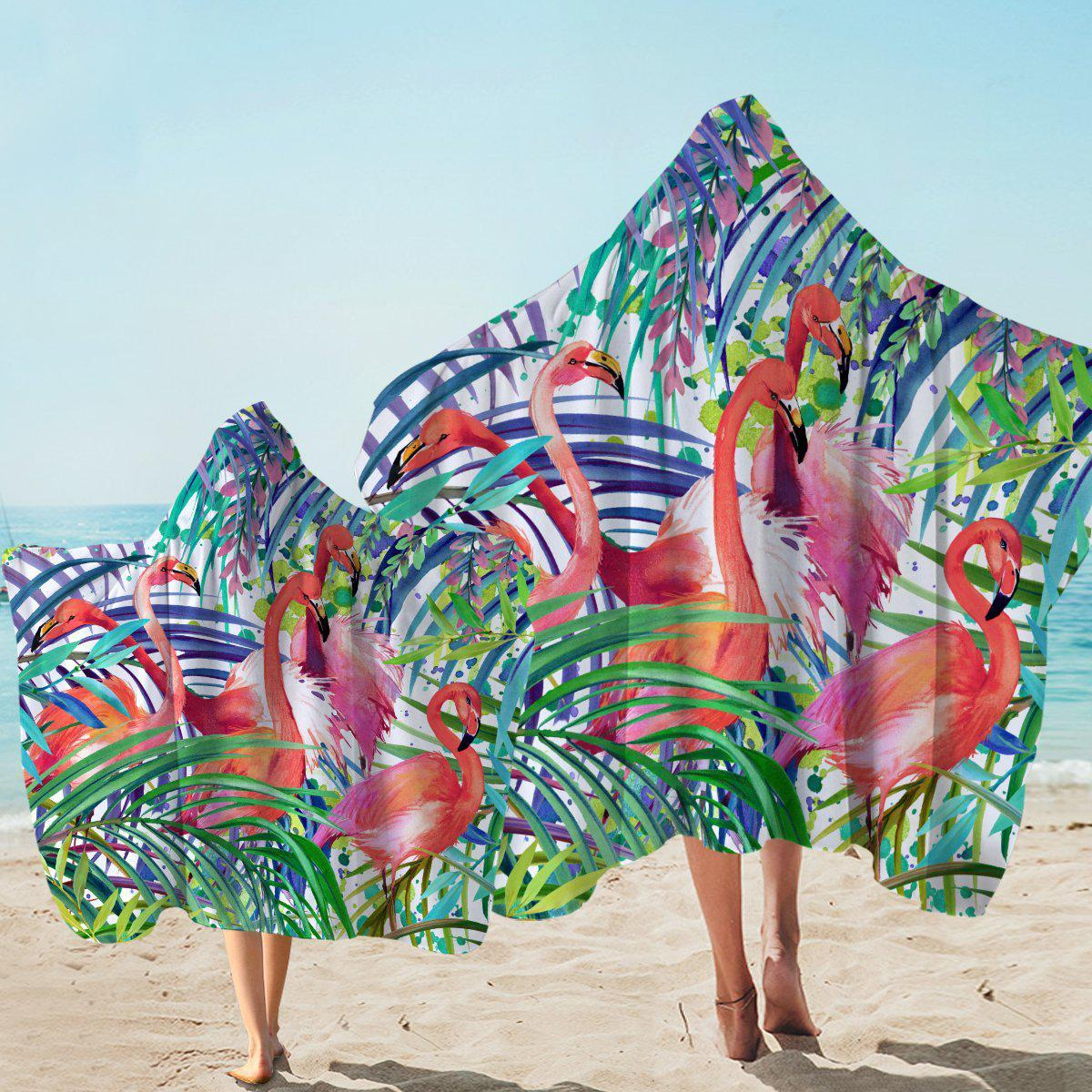 Hooded Beach Towel-Flamingo Passion Hooded Towel-Coastal Passion