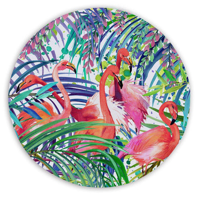 Sand Free Beach Towel-Flamingo Passion Round Sand-Free Towel-Coastal Passion