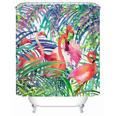 "Flamingo Passion Shower Curtain-Shower Curtain-59"" L. x 70"" H.-Coastal Passion"