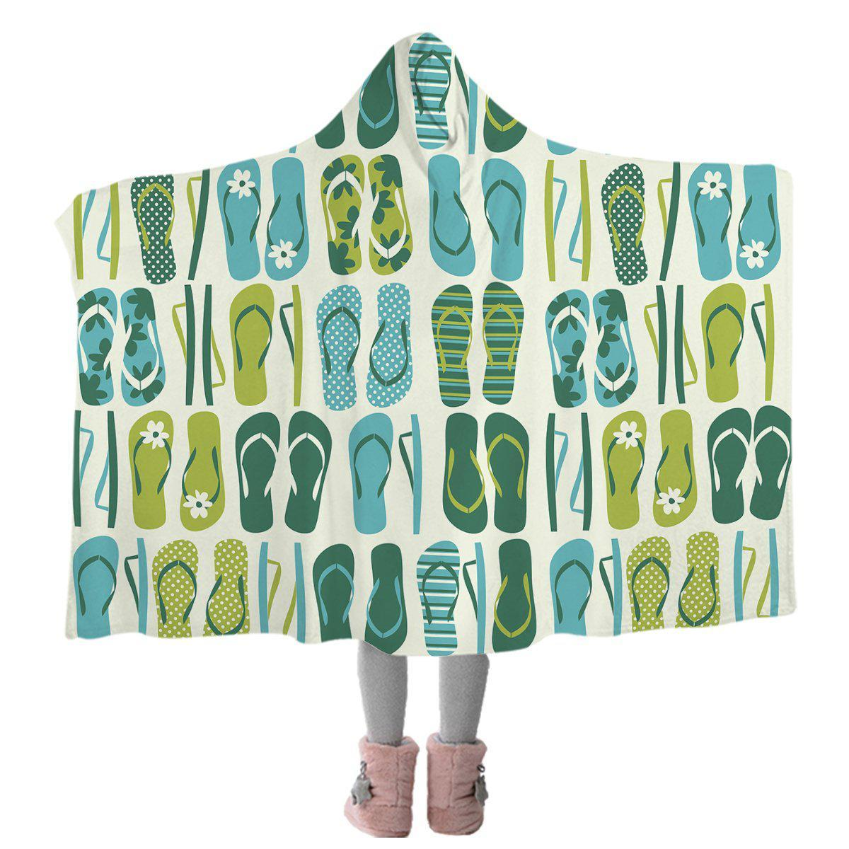 Flip Flop Frenzy Cozy Hooded Blanket