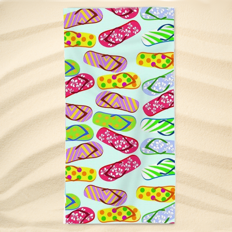 Beach Towel-Flip Flop Kinda Girl Extra Large Towel-Coastal Passion