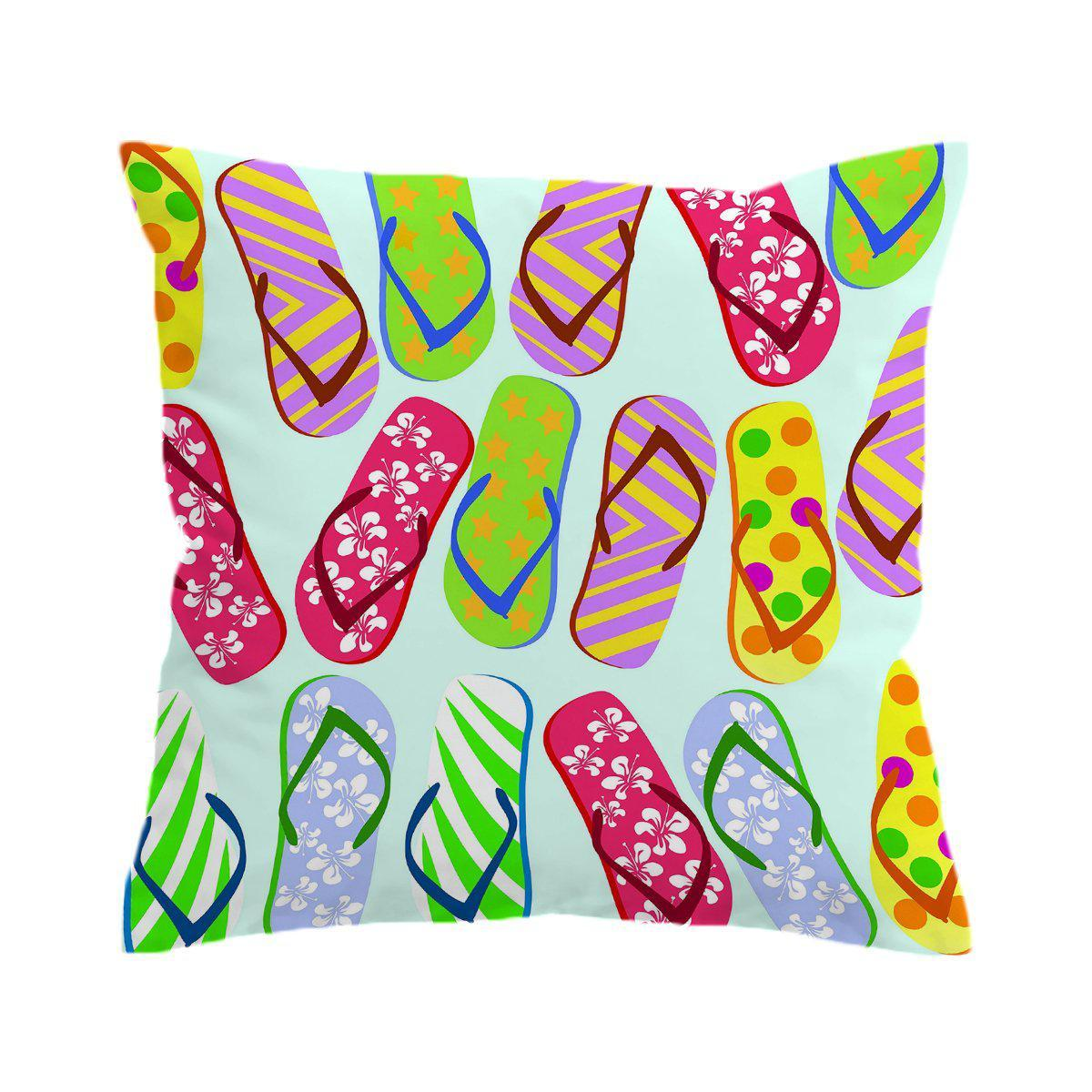 Flip Flop Kinda Girl Pillow Cover-Coastal Passion