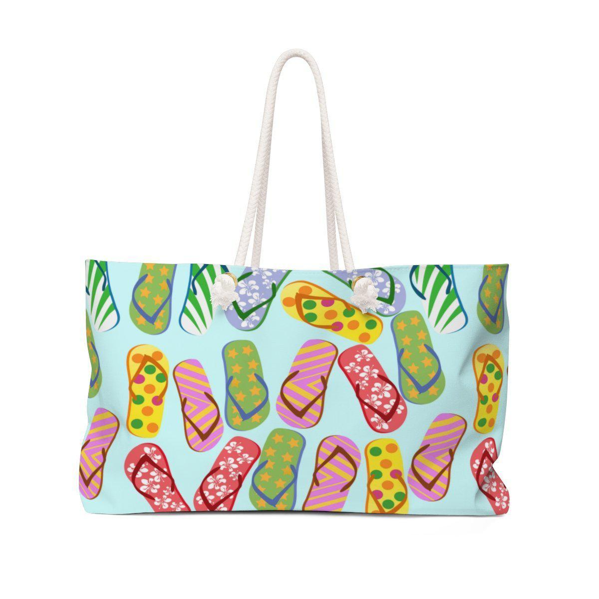 Flip Flop Kinda Girl Weekender Tote Bag-Bags-24x13-Coastal Passion