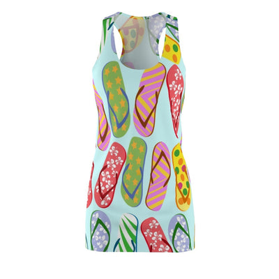 Flip Flops Galore Dress-All Over Prints-Coastal Passion