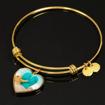 Flip Flops On The Beach Gold Necklace-Jewelry-Luxury Bangle (Gold)-Coastal Passion