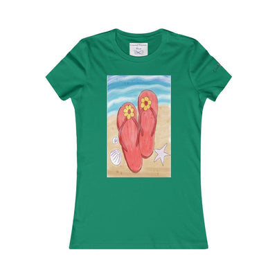 Flip Flops On the Beach T-Shirt-T-Shirt-Kelly-S-Coastal Passion