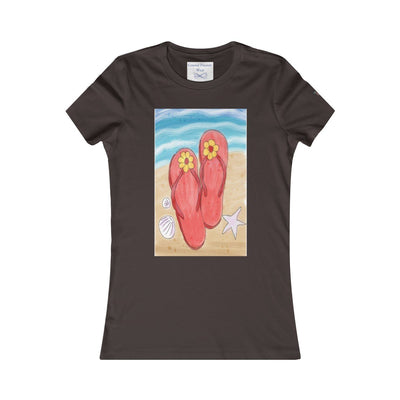 Flip Flops On the Beach T-Shirt-T-Shirt-Chocolate/Brown-S-Coastal Passion