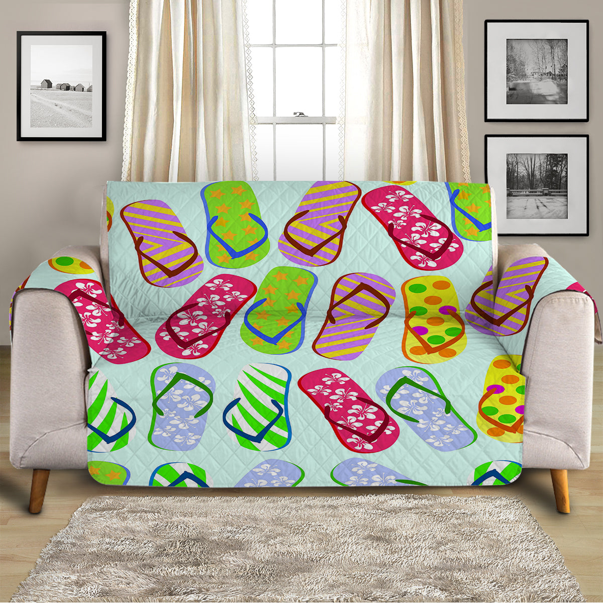 Flip Flops Kinda Girl Sofa Cover