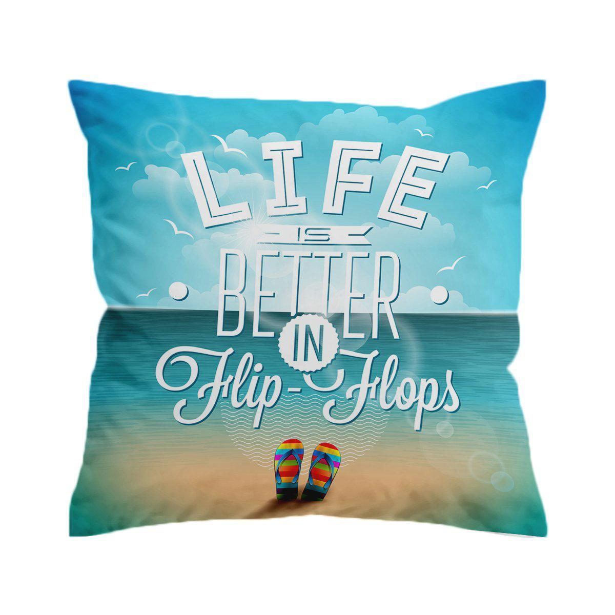 Flip Flops Way of Life Pillow Cover-Coastal Passion