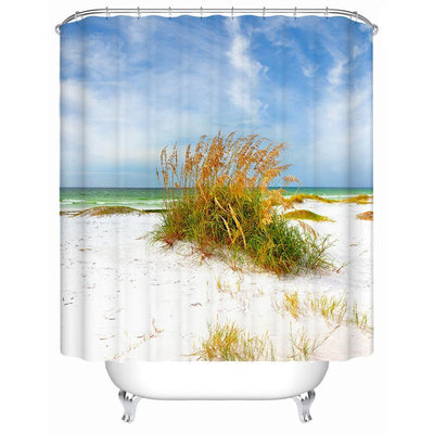 "Florida Dreaming Sea Oats Shower Curtain-Shower Curtain-59"" L. x 70"" H.-Coastal Passion"