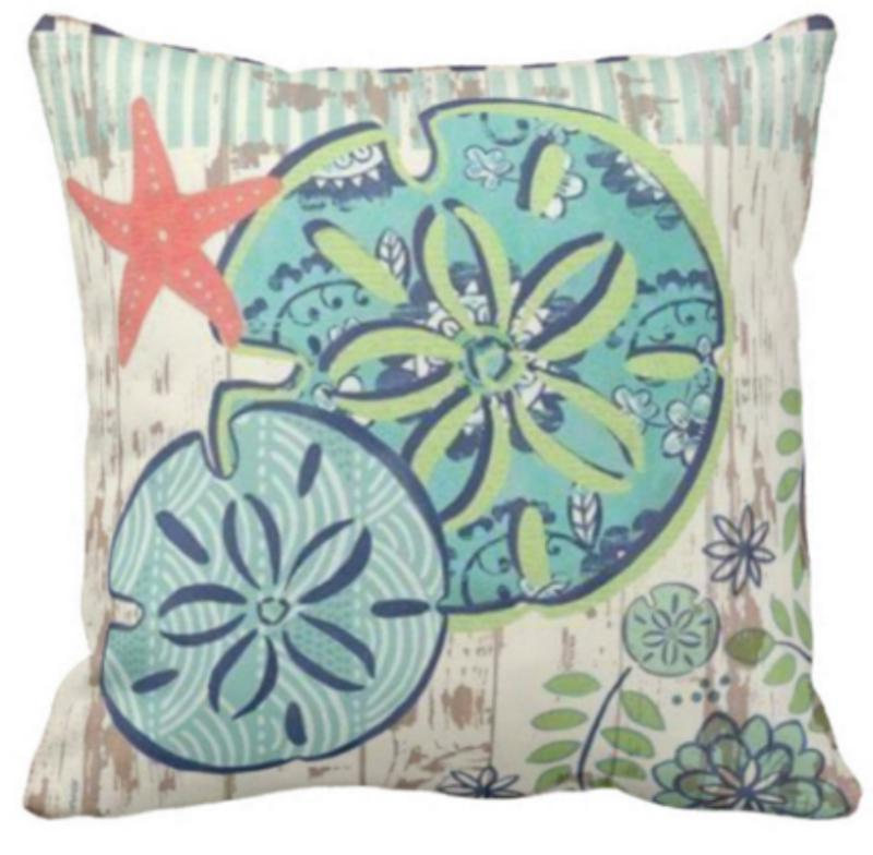 Flowery Sea Life Series NEW ARRIVALS!-Pillow Cover-Sand Dollars-Coastal Passion