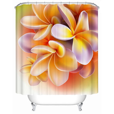 "Frangipani Shower Curtain-Shower Curtain-59"" L. x 70"" H.-Coastal Passion"