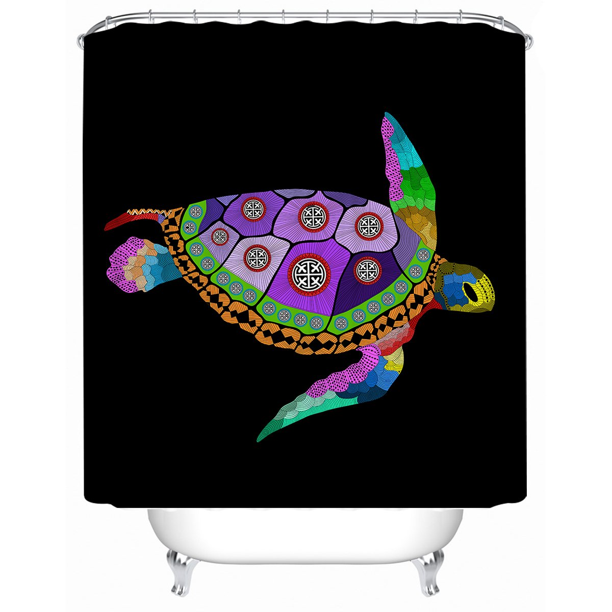 Free Spirit Turtle Shower Curtain-Coastal Passion