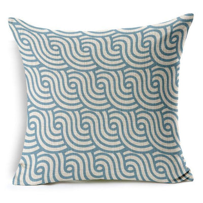 "Geometric Coastal Collection-Pillow Cover-STANDARD: COTTON-LINEN-POLYESTER-24"" x 24""-Geometric Coastal Collection 3-Coastal Passion"